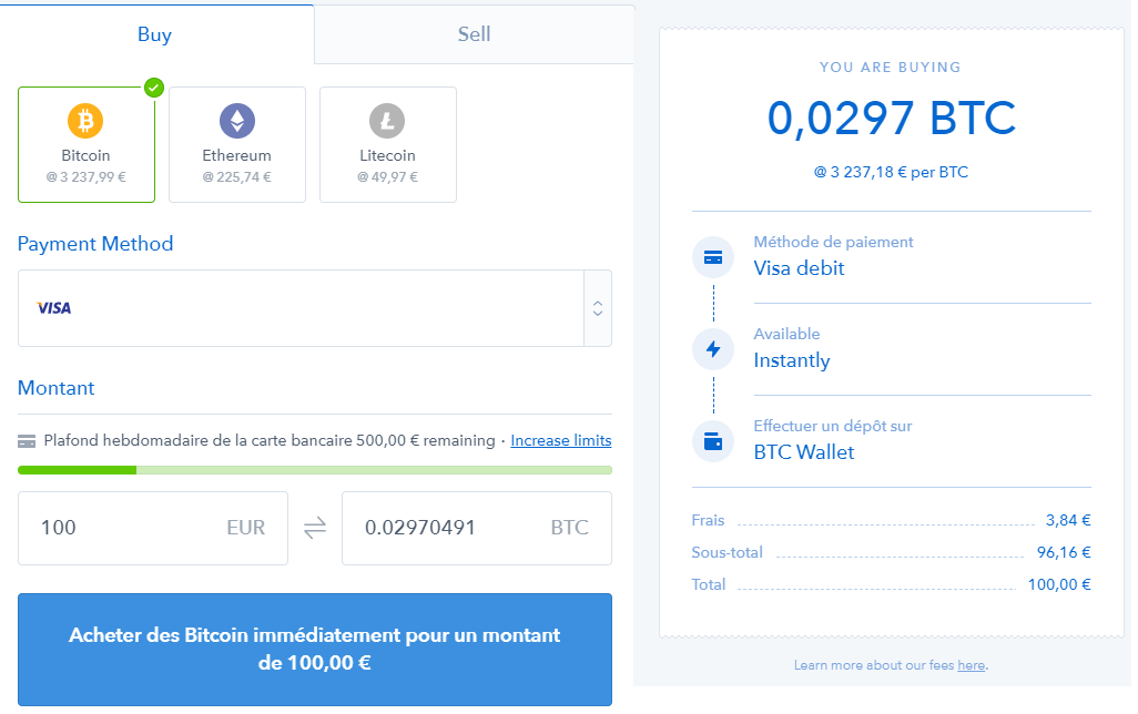 Virement bancaire Coinbase