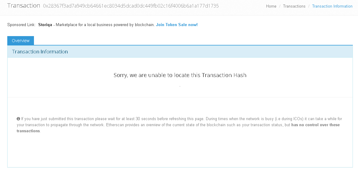 myetherwallet-etherscan-sorry-unable-transaction-hash