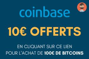 10€ offerts sur coinbase avec ce lien