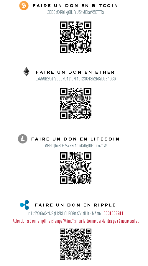 adresses crypto unicef