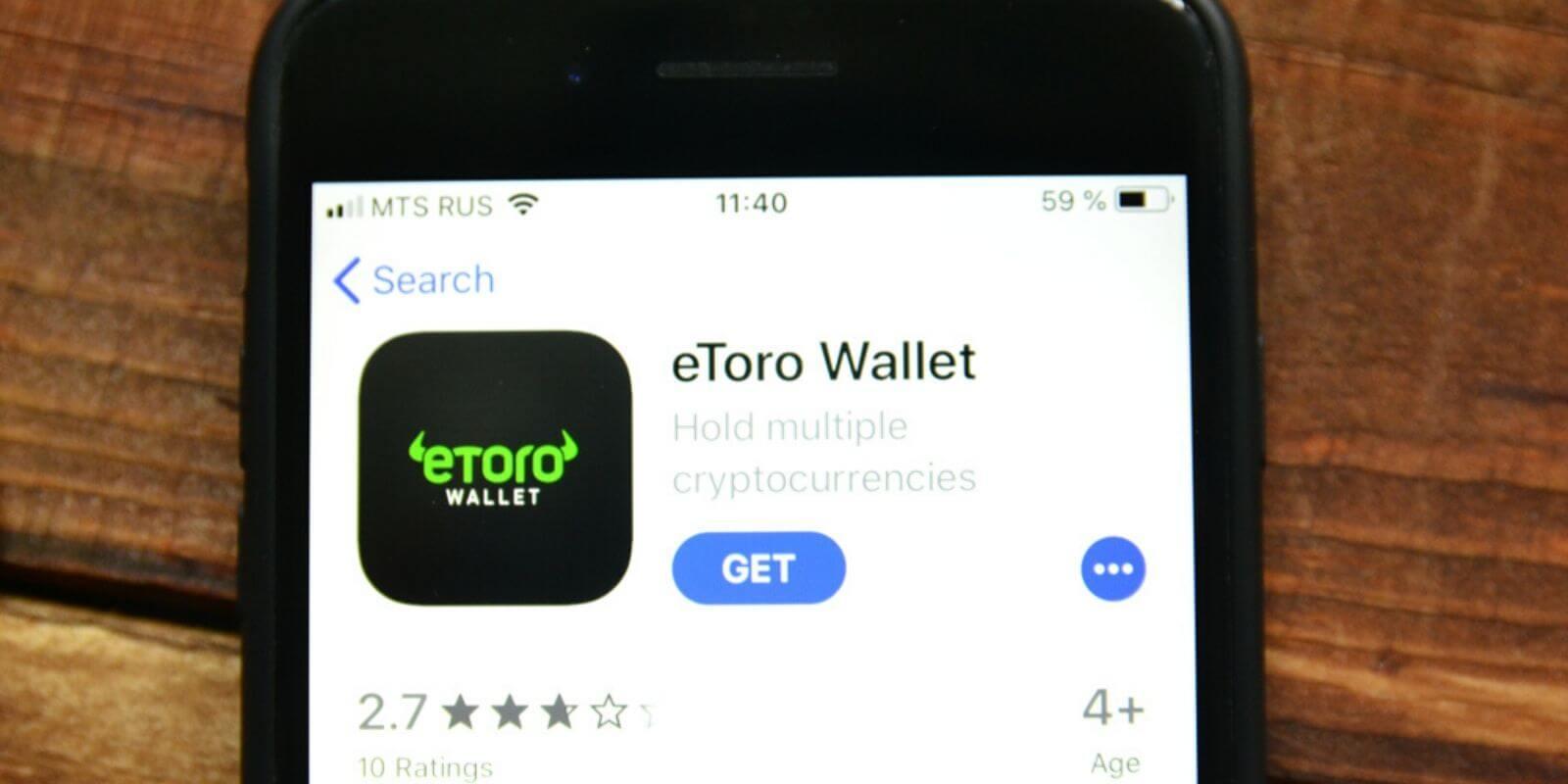 eToro lance son portefeuille Crypto