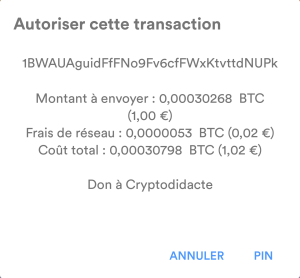 Autoriser la transaction