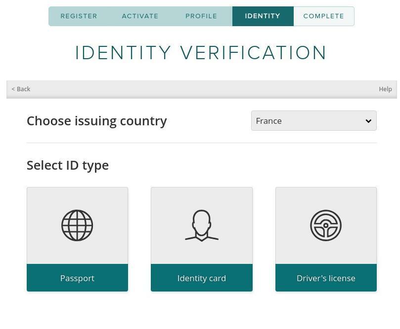 Vérification d'identité