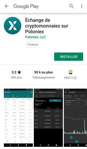 Application mobile dans Google Play