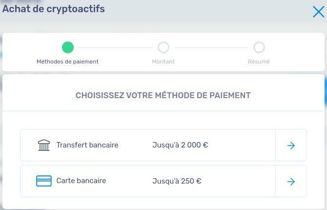 Choix méthode de paiement