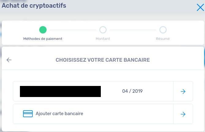 Choix carte bancaire