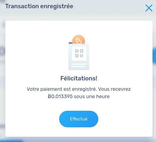 Attente réception bitcoin