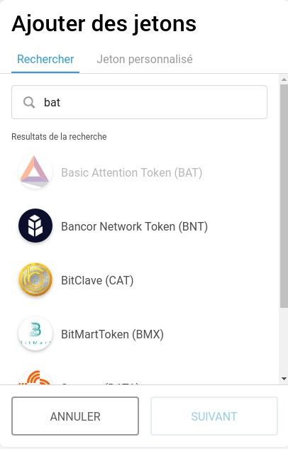 Recherche BAT