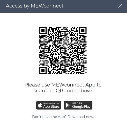 Code QR MEWconnect