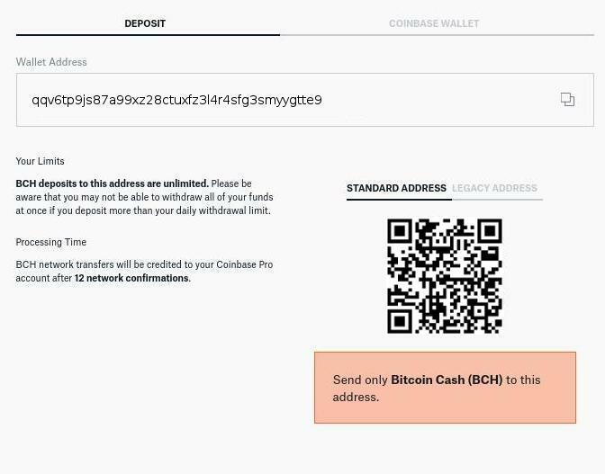 Dépôt Bitcoin Cash