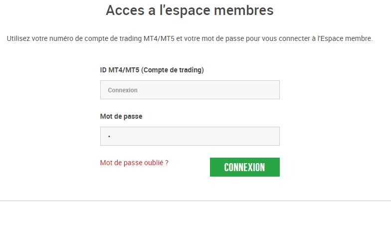 accès espace membre xm