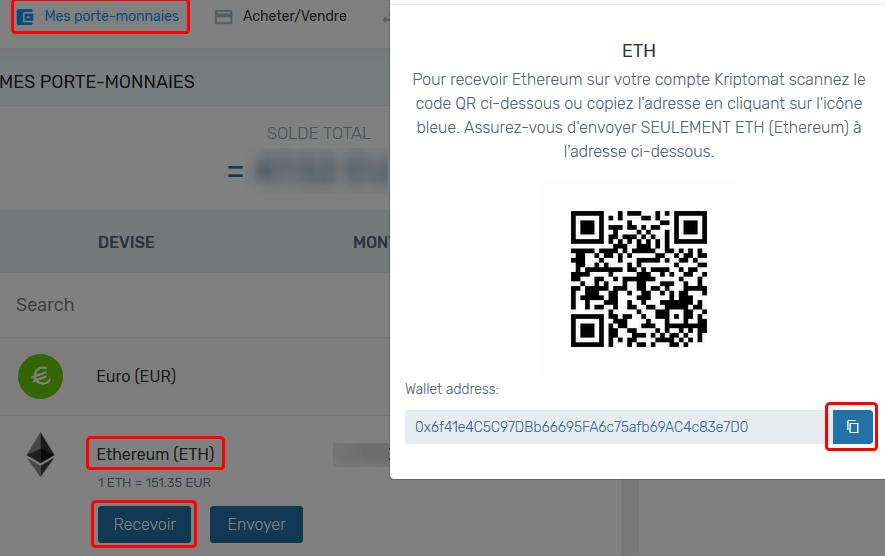 adresse ethereum sur kriptomat