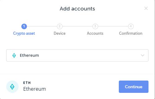 ajout d'un compte ethereum sur le ledger nano x