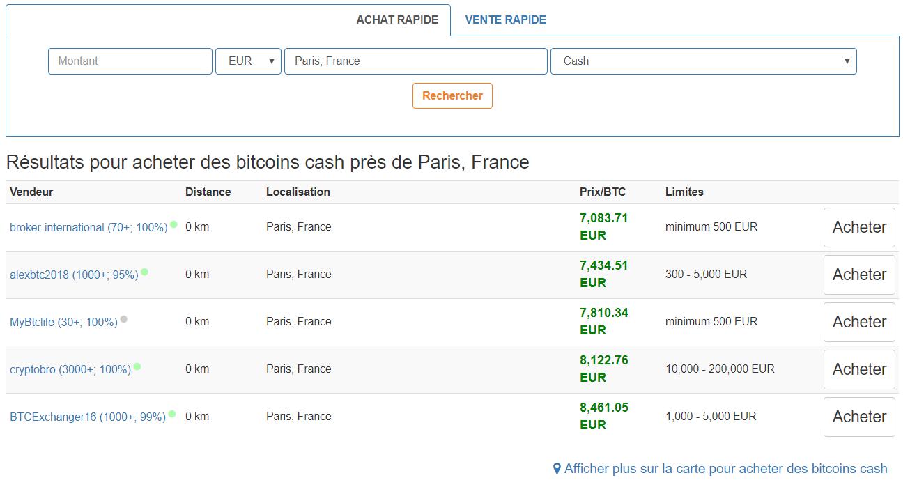 acheter en cash sur localbitcoins