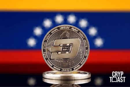 Pièce de Dash et drapeau du Venezuela