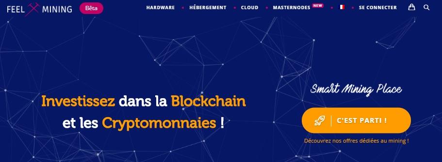 Page d'accueil de la plateforme Feel Mining