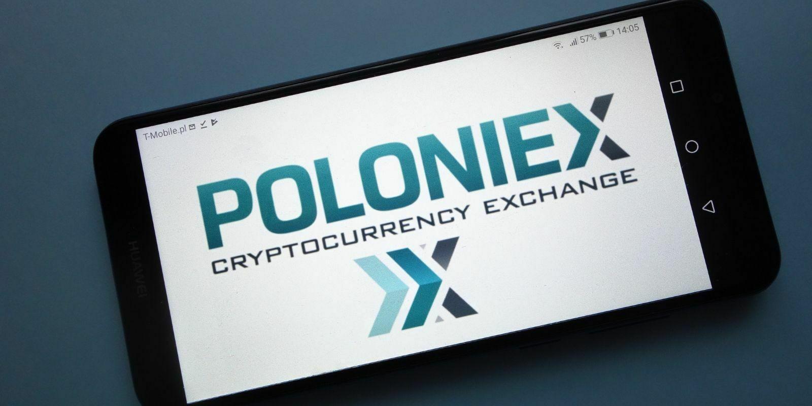 Poloniex Logo sur Smartphone