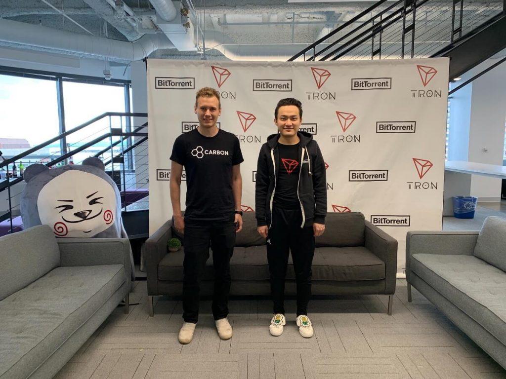 Sam Trautwein et Justin Sun