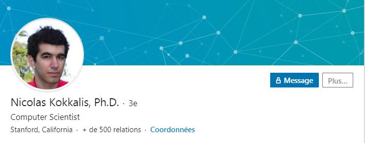 Nicolas Kokkalis de Pi Network, sur LinkedIn