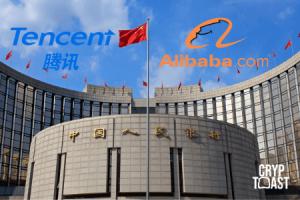 Alibaba et Tencent testeront en premier la cryptomonnaie du gouvernement chinois