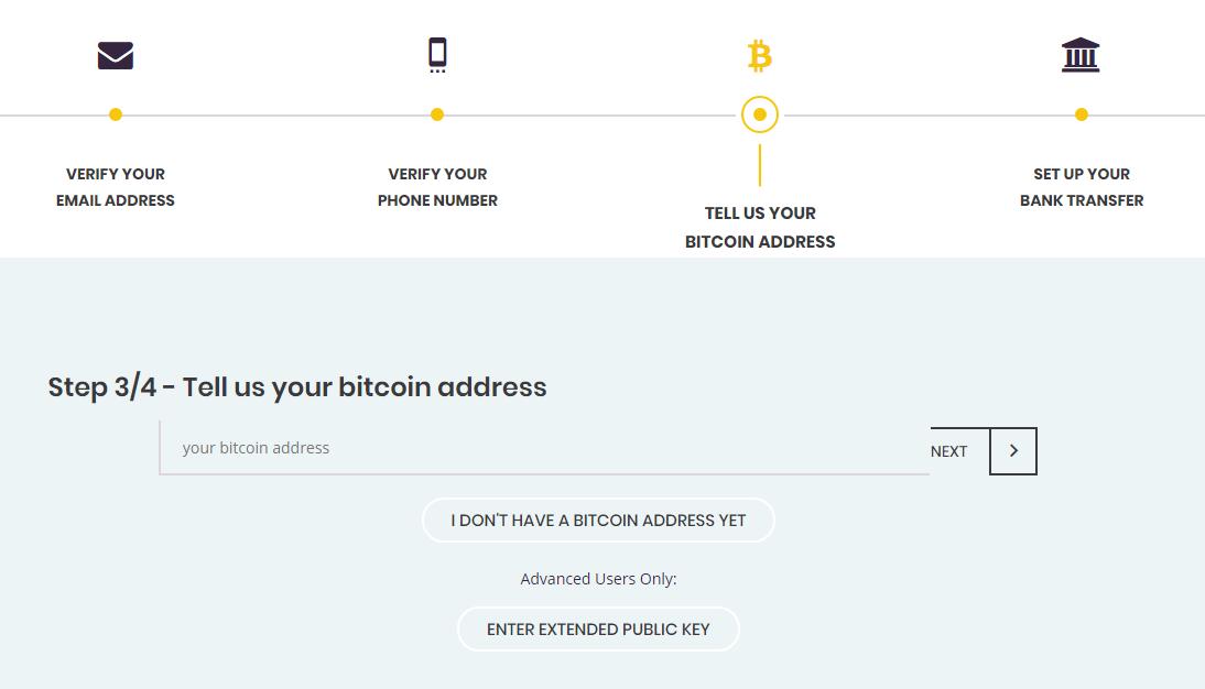 Etape 3 - Ajout de l'adresse bitcoin du wallet