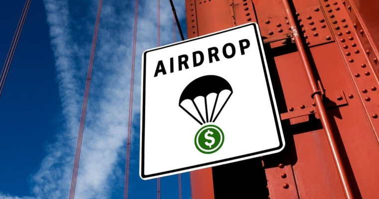 Panneau d'un Airdrop sur un mur