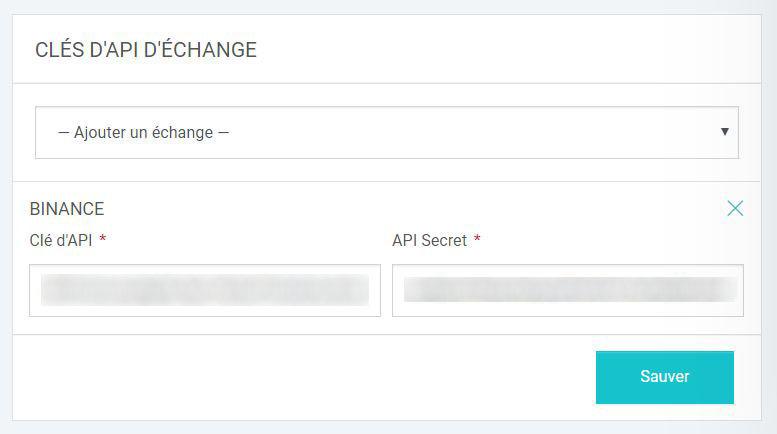 Kryll - Ajout clé API