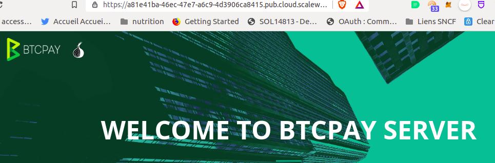 interface de btcpay server