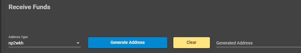 récupération d'une adresse bitcoin pour capitaliser le noeud lightning