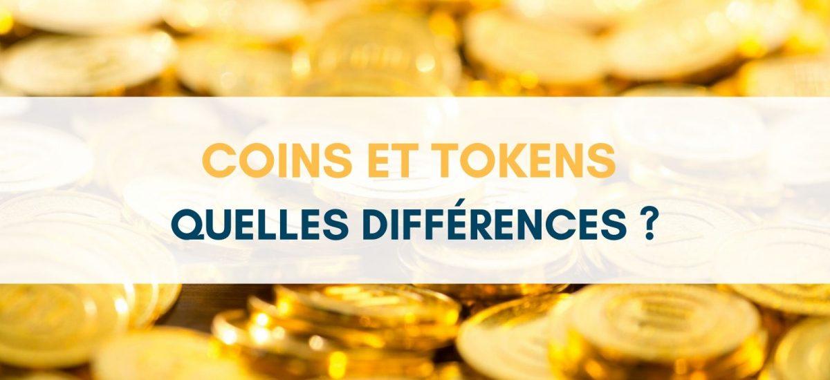 Différences coins tokens pièces jetons