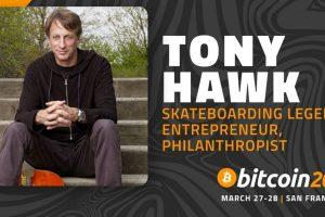 Tony Hawk interviendra lors de la conférence Bitcoin 2020