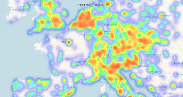Bitcoin commerces coinmap carte
