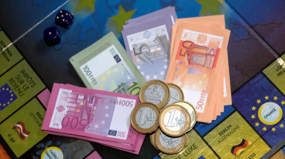 Pièces billets euros monopoly