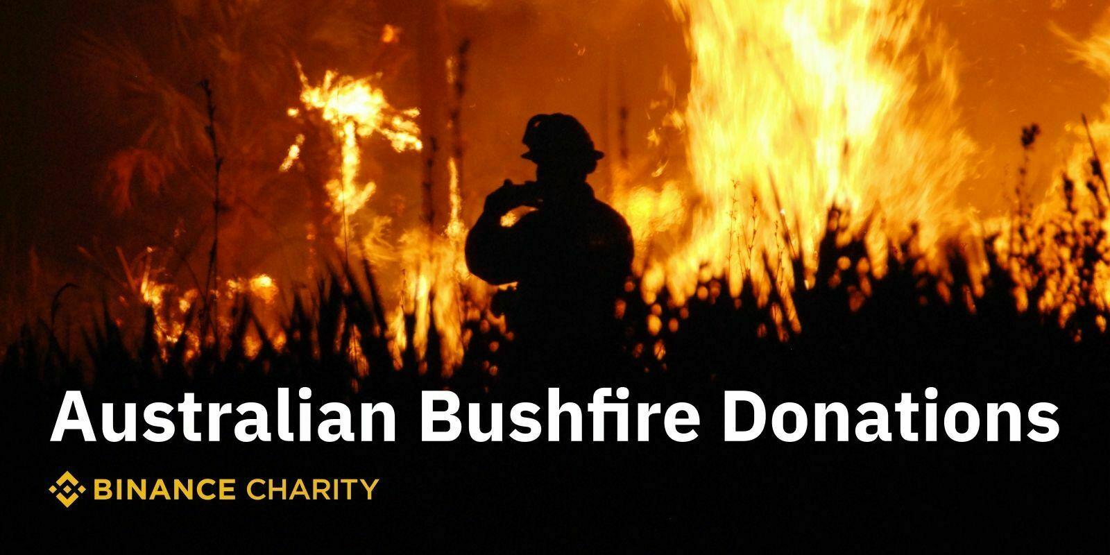 Binance Charity lance un programme de dons pour soutenir l'Australie dans sa lutte contre les incendies