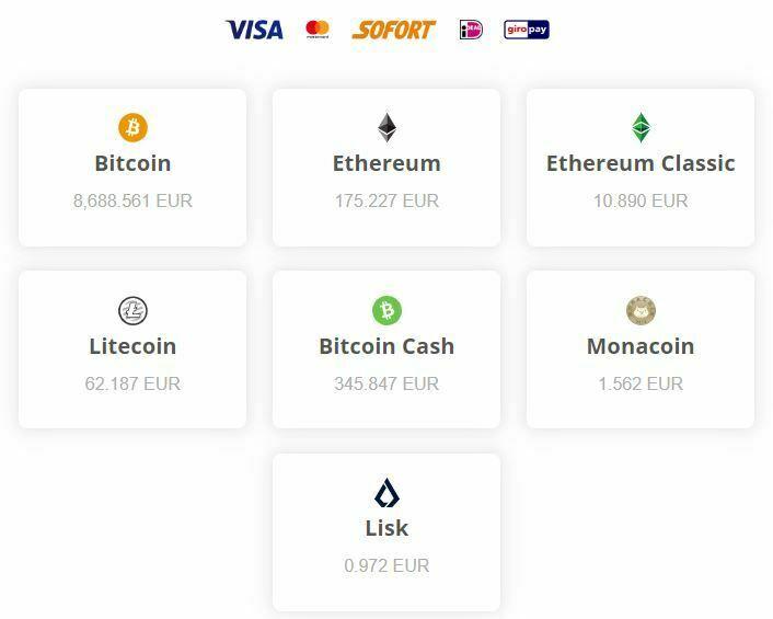 bitFlyer - Choix cryptomonnaies