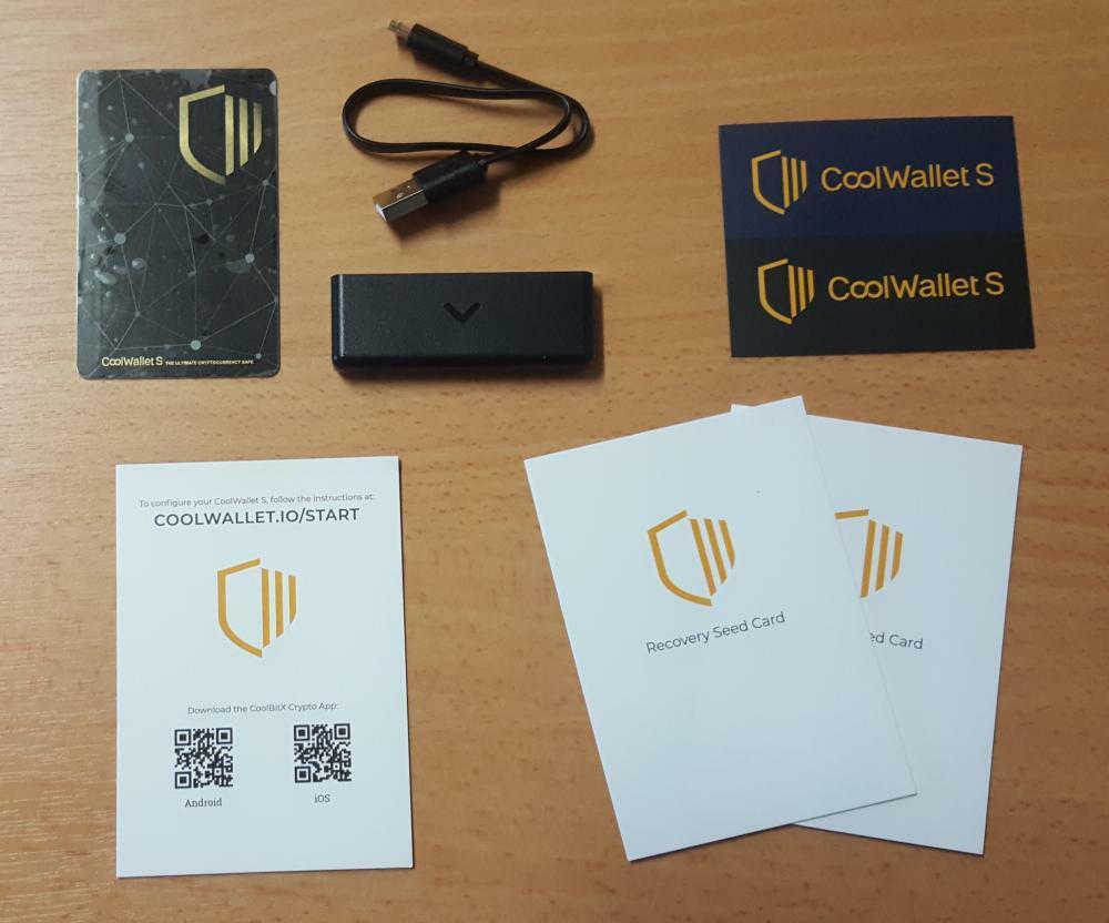 CoolBitX CoolWallet S contenu éléments