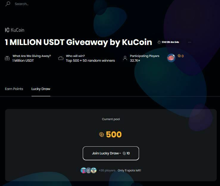 jeux hasard gagner points kucoinplay