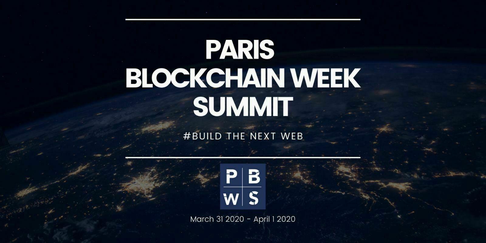 Coronavirus: le Paris Blockchain Week Summit est reporté à décembre