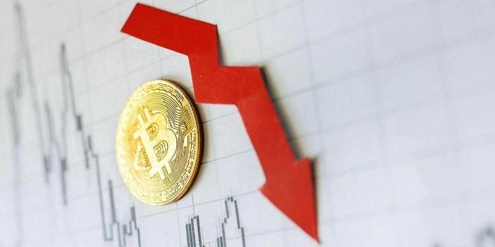 Le Bitcoin chute sous les 8000 dollars, jusqu'où peut-il descendre ?