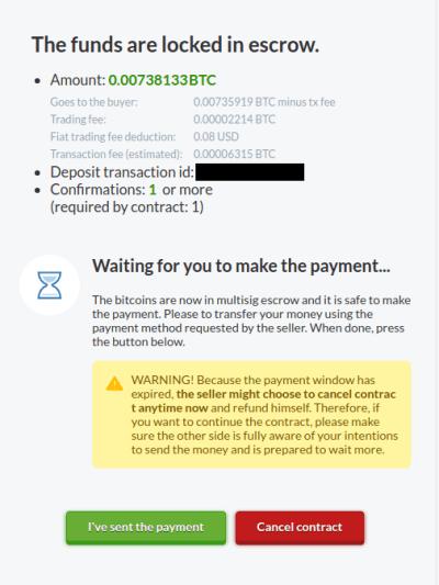 fonds bloqués dans le dépôt fiduciaire attente du paiement fiat