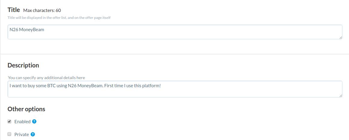 créer offre titre description