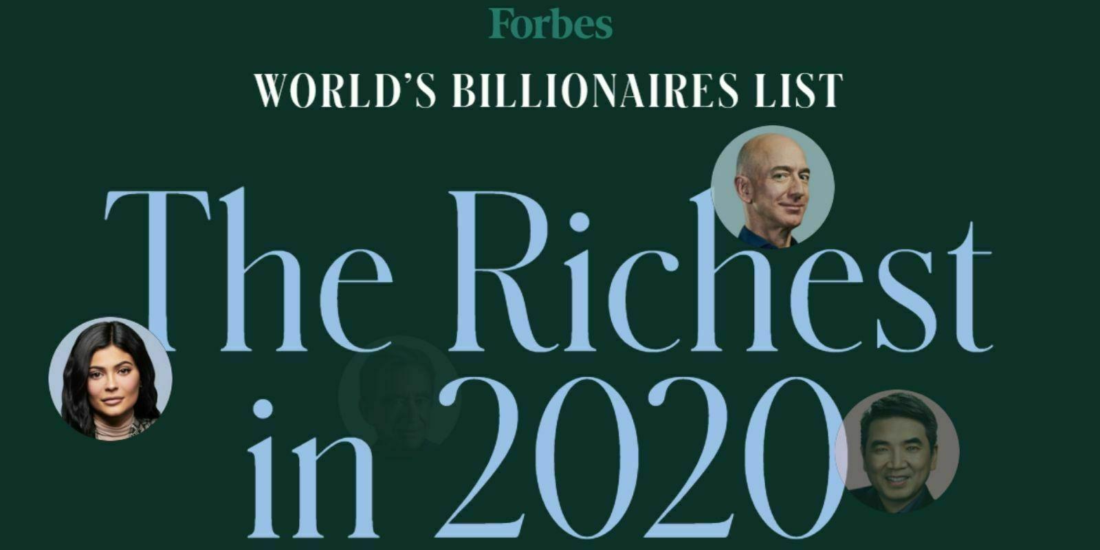 Classement Forbes 2020 des milliardaires : 4 crypto-entrepreneurs présents