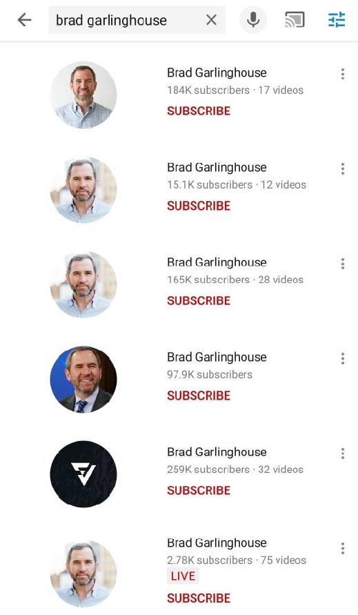 Fausses chaines Brad Garlinghouse