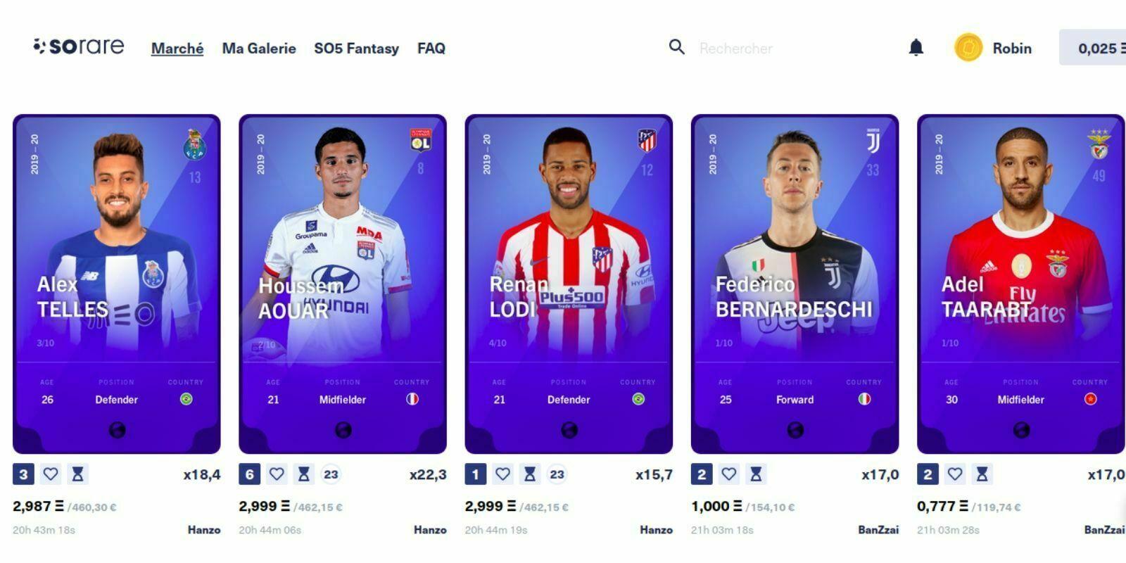Sorare : le jeu de football sur la blockchain avec des cartes à collectionner