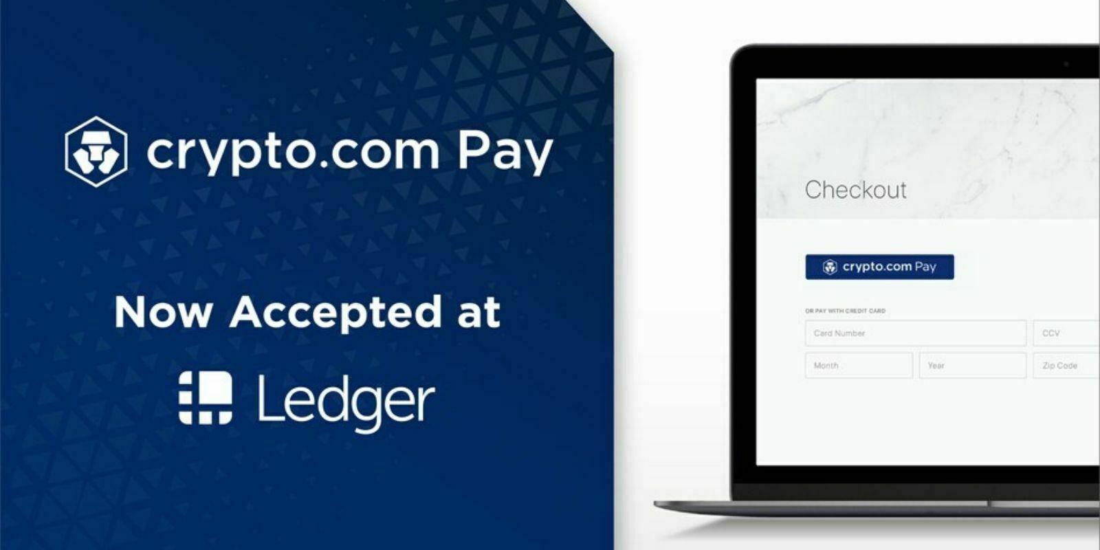 Ledger intègre Crypto.com Pay comme nouvelle option de paiement