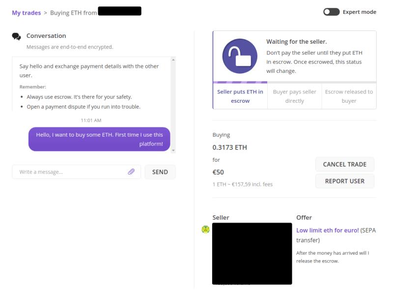 Le vendeur doit mettre les fonds sur le dépôt fiduciaire