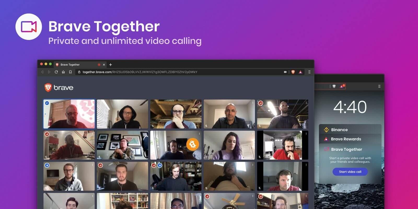 Brave propose maintenant des appels vidéos chiffrés