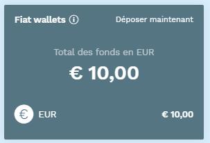 Portefeuille monnaies fiat