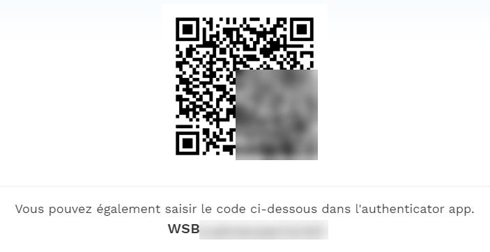 QR code 2FA