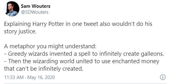 Métaphore Bitcoin Harry Potter
